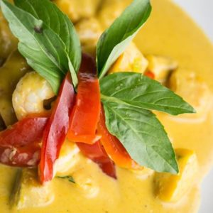 Thai Ginger Pumpkin Curry with Prawns