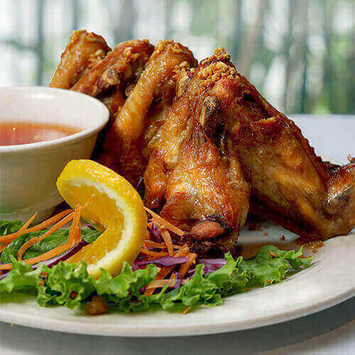 Crispy Garlic Wings