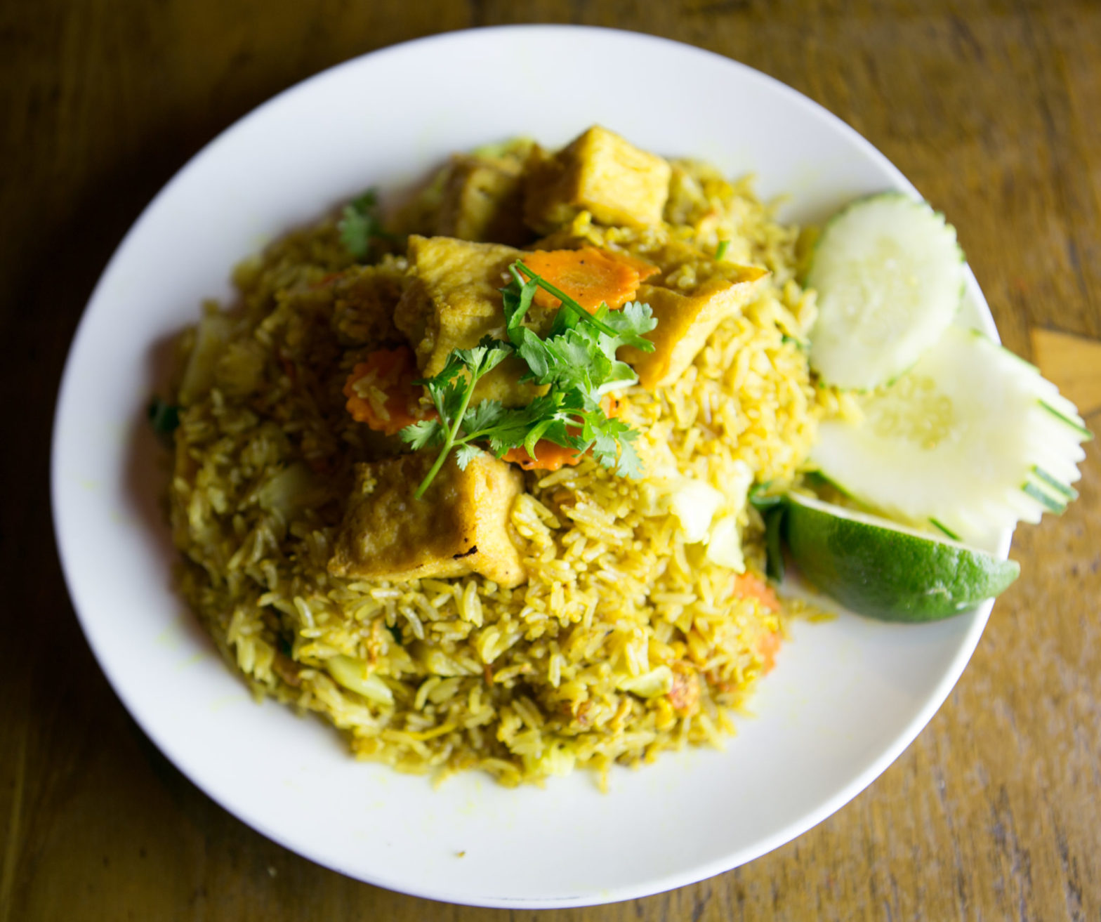 Fried Rice Yellow Curry Veg